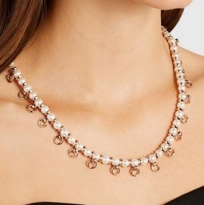 Eddie Borgo Pierced Faux Pearl Necklace
